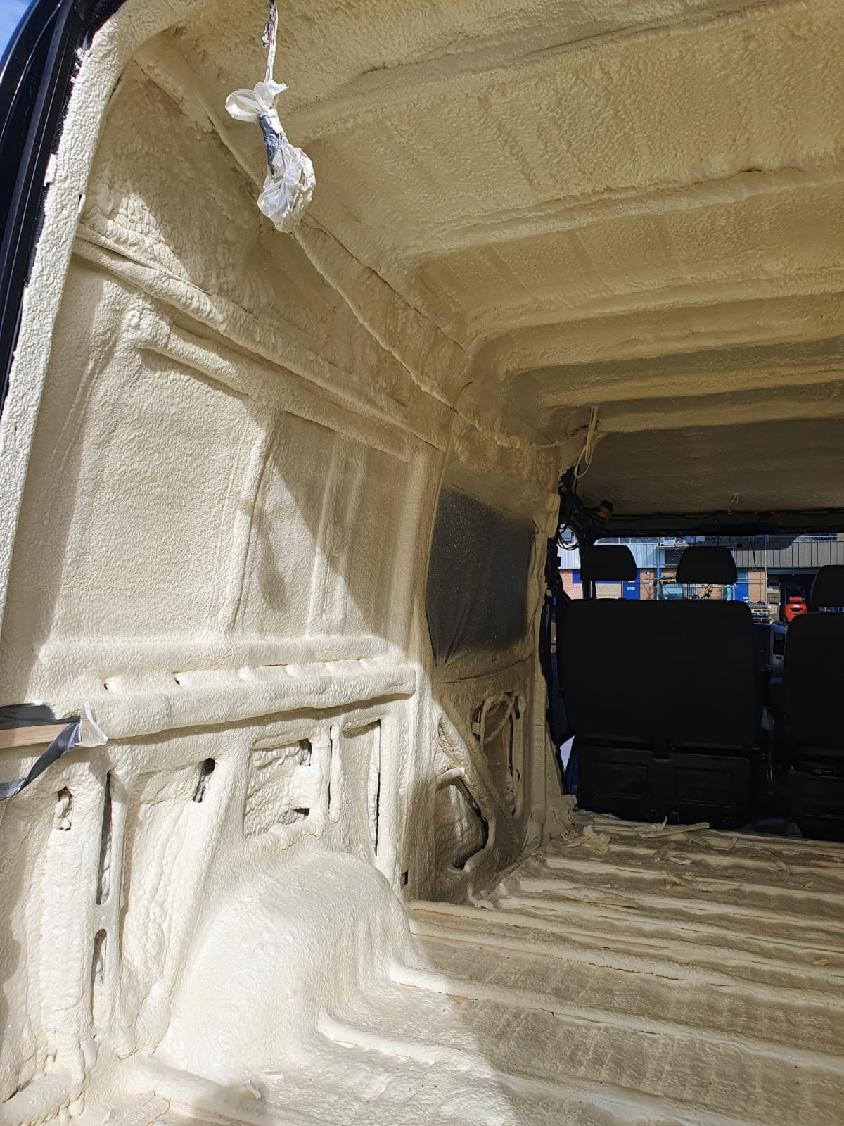 spray foam insulation inside camper van
